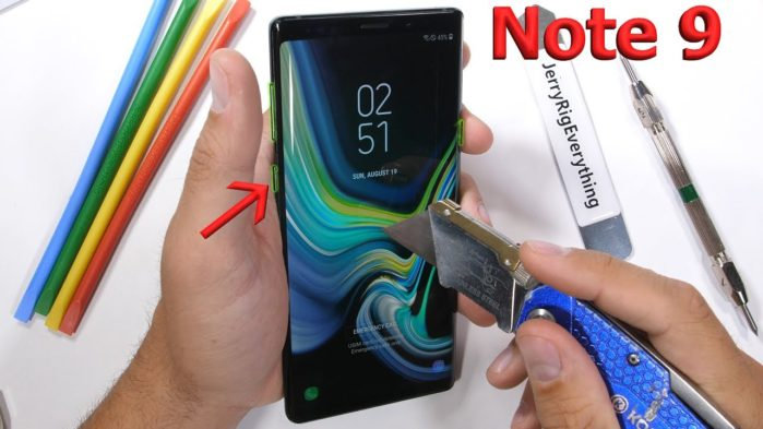 Galaxy Note 9 test resistenza: un piccolo strano difetto