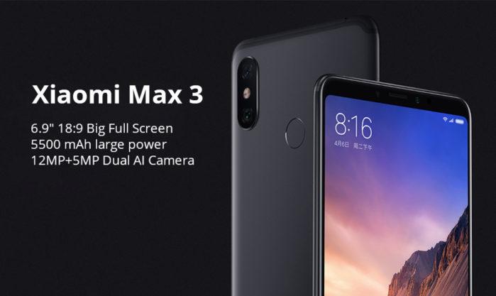 Xiaomi Mi Max 3 offerta lampo prezzo 224 euro