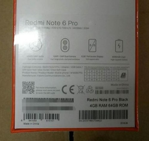 Xiaomi Redmi Note 6 rumors