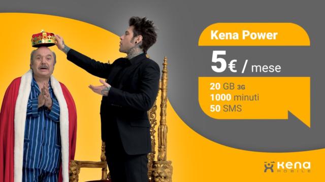 Offerta Kena Power imperdibile: 20GB, 1.000minuti e 50 SMS a 5€