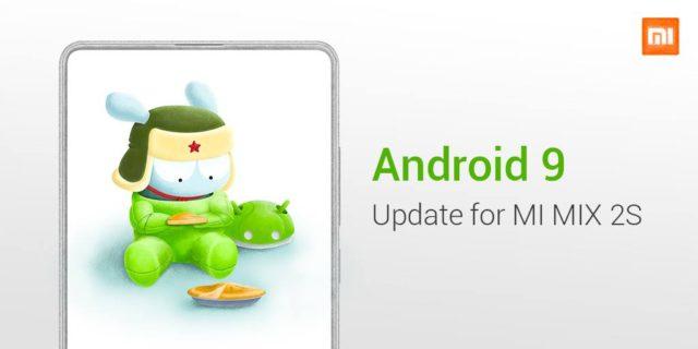 Xiaomi Mi Mix 2s aggiornamento Android Pie 9.0 stabile con miu 10