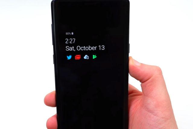 Always On Display Samsung Galaxy con Android Pie: le novità