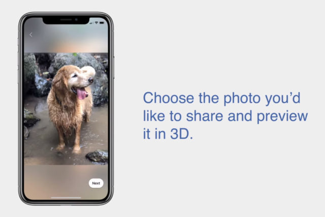 Facebook adesso trasforma le foto normali in foto in 3D