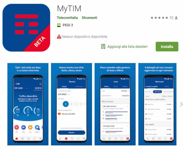 MyTIM per Android versione beta sul Google Play Store