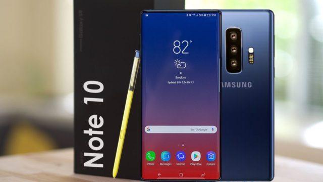 Galaxy Note 10 sarà più grande del Galaxy S10 Plus: display