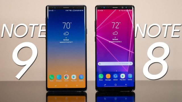 Galaxy Note 9 vs Note 8: differenza autonomia batteria