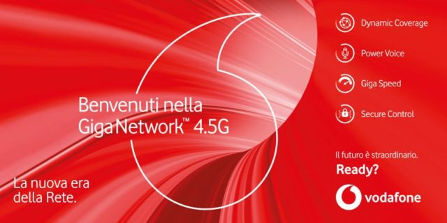 Vodafone Unlimited Red+ network 4.5G