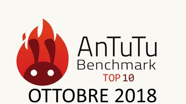 Top 10 AnTutu smartphone Android Ottobre 2018