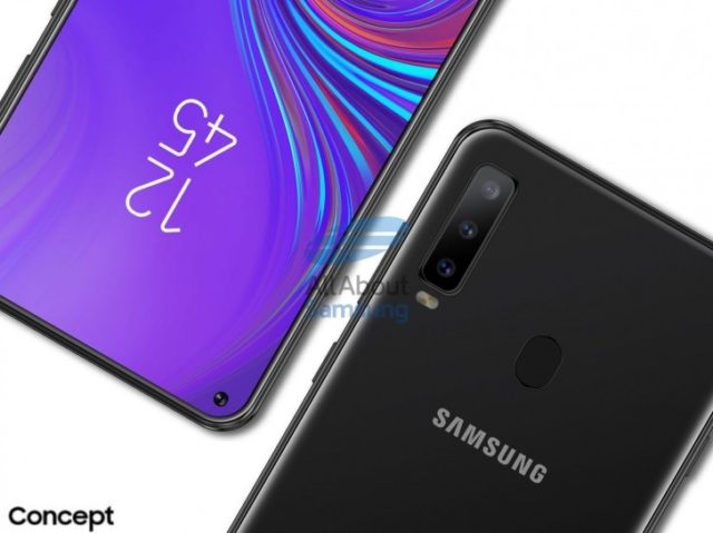 Galaxy A8s render ufficiosi