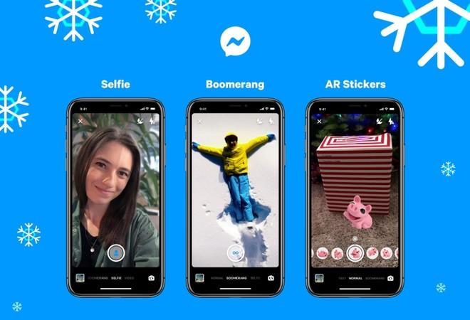 Facebook Messenger: modalità Selfie e adesivi AR