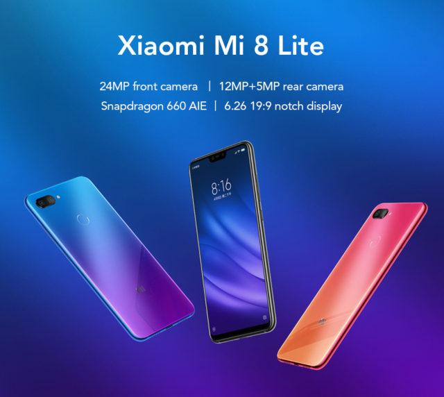 Xiaomi Mi 8 Lite prezzo 222 euro con coupon