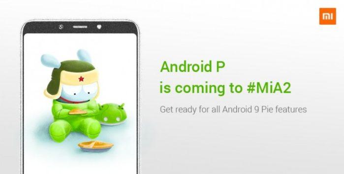 Xiaomi Mi A2 Android Pie 18 dicembre 2018
