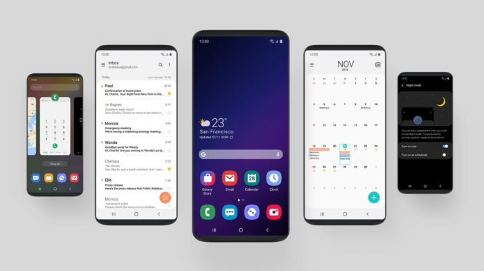Galaxy Note 8 e Galaxy S8 Android Pie