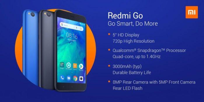 Redmi Go ufficiale: lo smartphone Android Go di Xiaomi