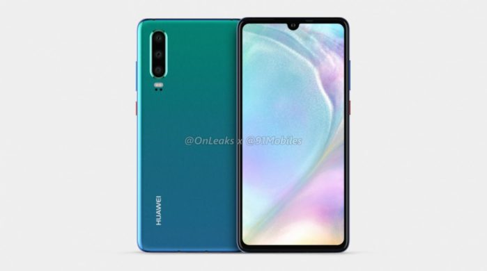 Huawei P30 successore di P20: immagini render