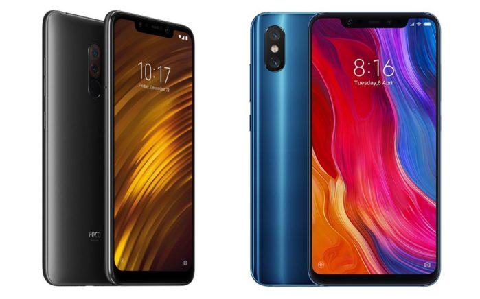 Xiaomi Mi 8 e PocoPhone F1 offerta lampo con coupon