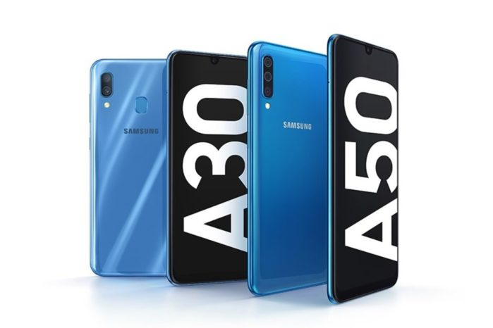 Samsung Galaxy A50 e Galaxy A30 ufficiali