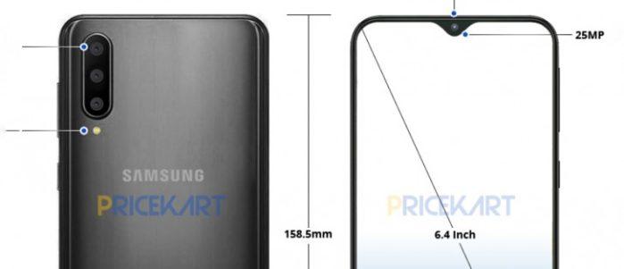 Galaxy A50 immagini render design finale