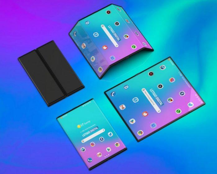 Smartphone pieghevole Xiaomi immagini render