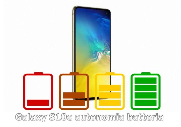 Galaxy S10e recensione autonomia batteria