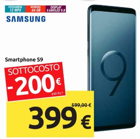 S9 Sottocosto carrefour 399 euro