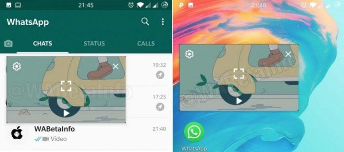 WhatsApp beta Modalità PIP Video e messaggi vocali