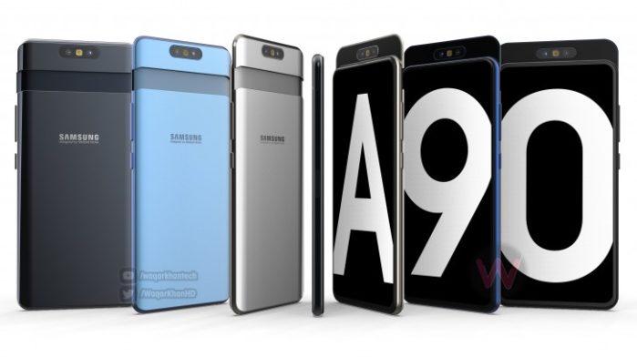 Samsung Galaxy A90 con fotocamera slider rotante