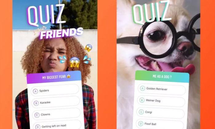 Instagram arrivano gli adesivi Quiz