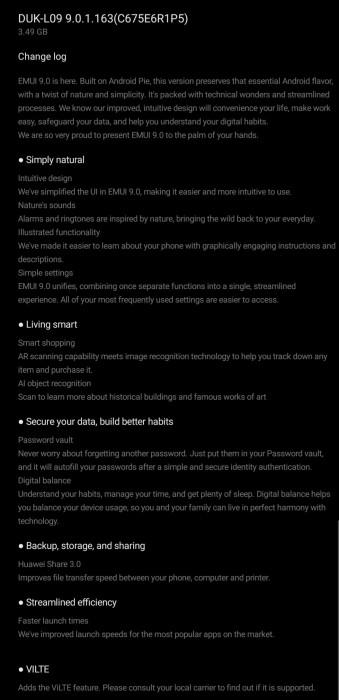 Honor 8 Pro ecco finalmente l'aggiornamento ad Android Pie