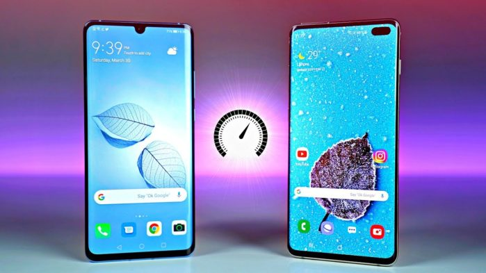 Huawei P30 Pro vs Galaxy S10 Plus test velocità