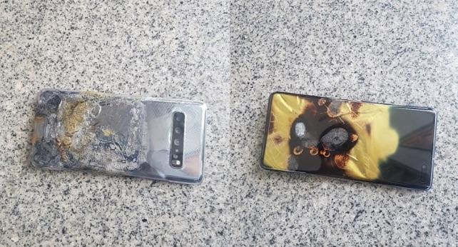 Galaxy S10 5G prende fuoco