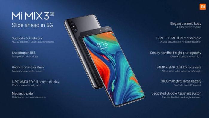 Xiaomi Mi Mix 3 5G in Italia: prezzo e data commercializzazione