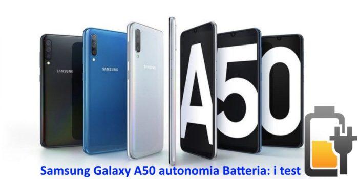 Samsung Galaxy A50 autonomia batteria