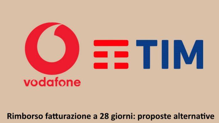 TIM e Vodafone rimborso fatturazione 28 giorni