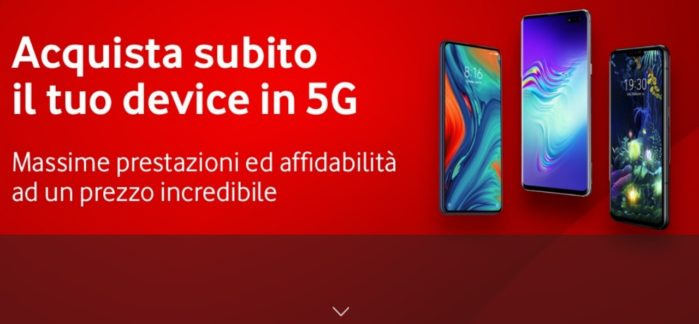 Smartphone 5G Vodafone: prezzi