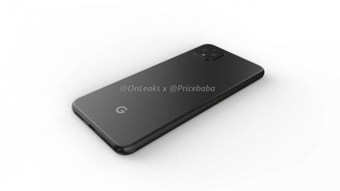 Google Pixel 4 XL render socca posteriore