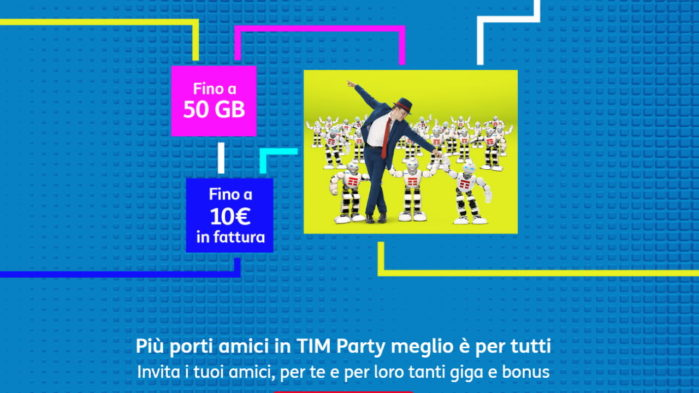 Tim party invita amici