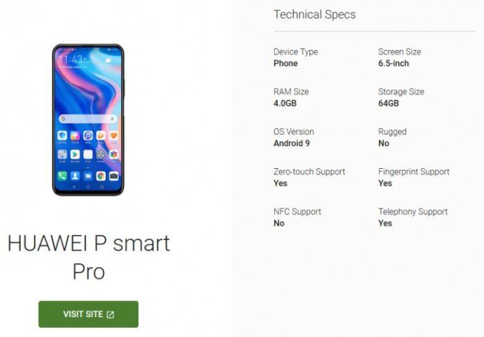 Huawei P Smart Pro rumors