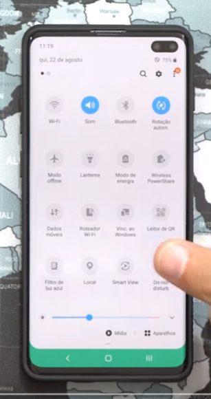 Impostazioni rapide Android 10 Galaxy S10 Plus