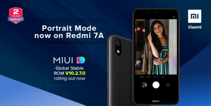 Redmi 7A MIUI 10.2.7.0 aggiornamento