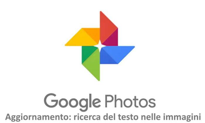 Google Foto aggiornamento: ricerca testo nelle immagini