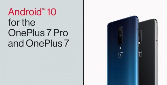 OnePlus 7 e 7 Pro aggiornamento Android 10
