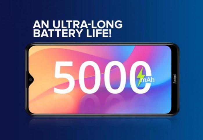 Redmi 8A batteria da 5000 mAh