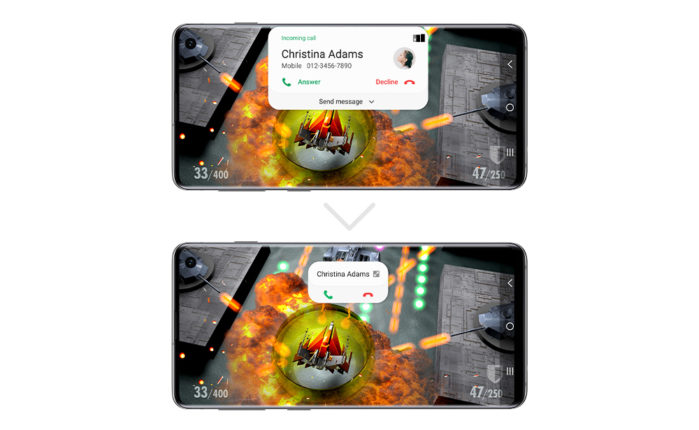 Notifiche e Pop Up minimizzate Android 10 Galaxy S10