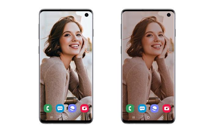 Modalità scura home screen Android 10 beta Galaxy S10