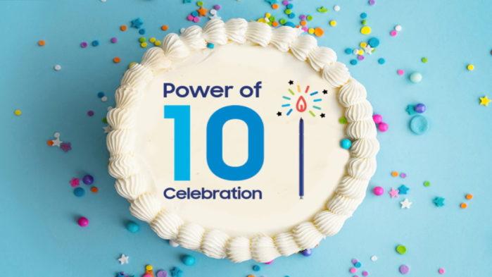Samsung Galaxy promo 10 anni