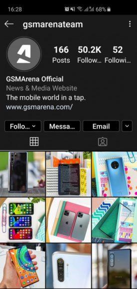 Instagram modalità scura attiva