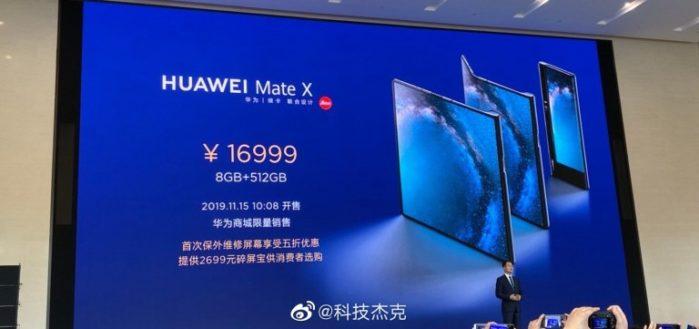 Huawei Mate X prezzo Cina