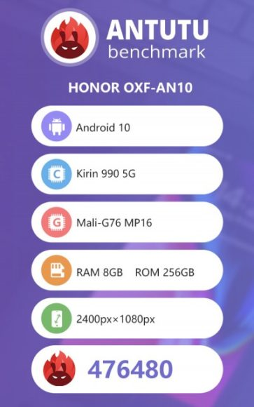 Honor v30 Pro Screenshot AnTuTu