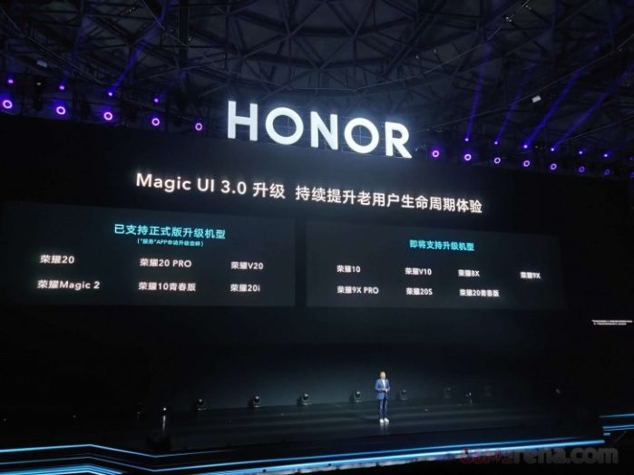 Smartphone Honor aggiornamento Android 10 con Magic UI 3.0